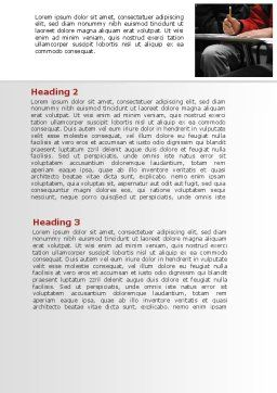 Student in a Lecture Word Template, Second Inner Page, 09095, Education & Training — PoweredTemplate.com
