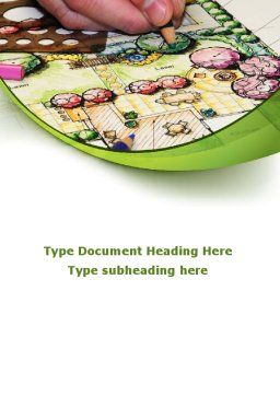 Garden Planning Word Template, Cover Page, 09098, Construction — PoweredTemplate.com