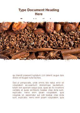 Unrefined Grains Word Template, Cover Page, 09099, Food & Beverage — PoweredTemplate.com