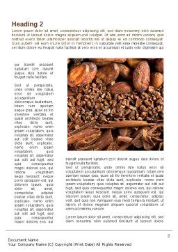 Unrefined Grains Word Template, First Inner Page, 09099, Food & Beverage — PoweredTemplate.com