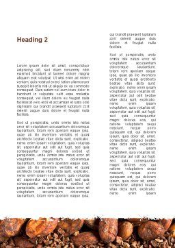 Unrefined Grains Word Template, Second Inner Page, 09099, Food & Beverage — PoweredTemplate.com
