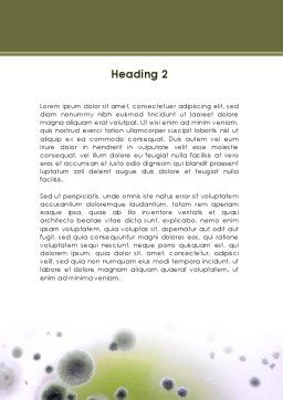 Mold Word Template, Second Inner Page, 09104, Medical — PoweredTemplate.com