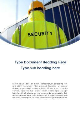 Security Officer Word Template, Cover Page, 09108, Careers/Industry — PoweredTemplate.com
