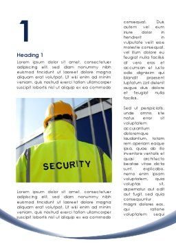 Security Officer Word Template, First Inner Page, 09108, Careers/Industry — PoweredTemplate.com
