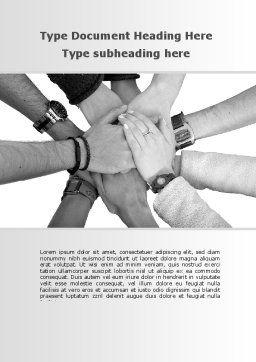 Hands To Hands Word Template, Cover Page, 09112, Religious/Spiritual — PoweredTemplate.com