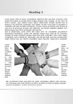 Hands To Hands Word Template, First Inner Page, 09112, Religious/Spiritual — PoweredTemplate.com