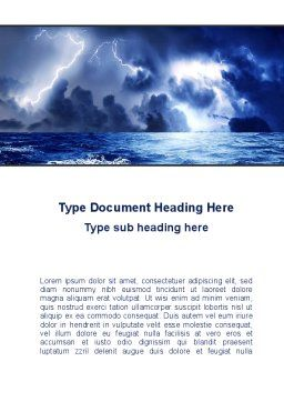 Navy Blue Sea Word Template, Cover Page, 09113, Nature & Environment — PoweredTemplate.com
