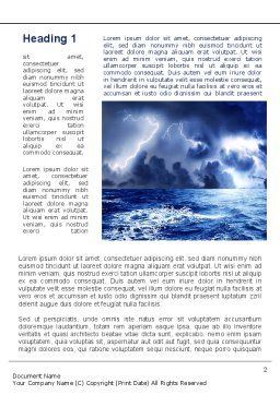 Navy Blue Sea Word Template, First Inner Page, 09113, Nature & Environment — PoweredTemplate.com