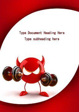 FreeBSD Daemon Word Template, Cover Page, 09115, Sports — PoweredTemplate.com