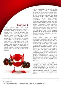 FreeBSD Daemon Word Template, First Inner Page, 09115, Sports — PoweredTemplate.com