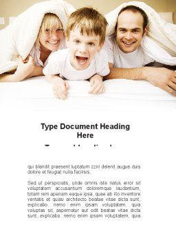 Modern Family Word Template, Cover Page, 09116, People — PoweredTemplate.com