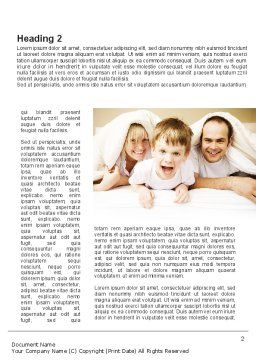 Modern Family Word Template, First Inner Page, 09116, People — PoweredTemplate.com