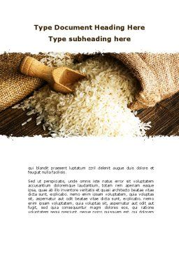 Grains Of Rice Word Template, Cover Page, 09117, Food & Beverage — PoweredTemplate.com