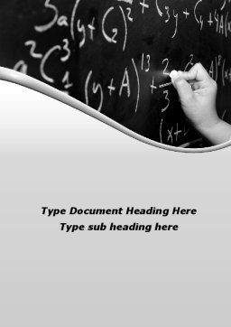 Mathematics Formulas Word Template Cover Page