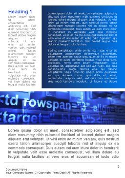 Blue Monitor Word Template, First Inner Page, 09121, Technology, Science & Computers — PoweredTemplate.com