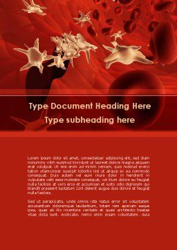 Blood and Virus Word Template, Cover Page, 09126, Medical — PoweredTemplate.com