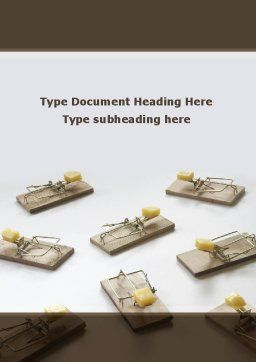 Mouse Traps With Cheese Word Template, Cover Page, 09127, Business Concepts — PoweredTemplate.com