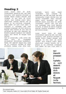 Teamwork Word Template, First Inner Page, 09134, Business — PoweredTemplate.com