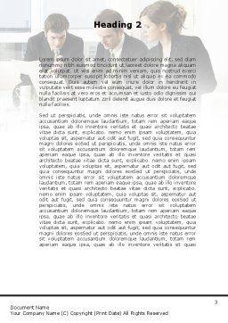 Teamwork Word Template, Second Inner Page, 09134, Business — PoweredTemplate.com