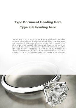 Diamond Ring Word Template, Cover Page, 09135, Holiday/Special Occasion — PoweredTemplate.com