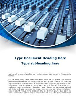 Audio Mixing Console Word Template Cover Page