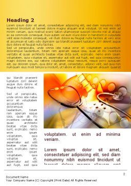 Physiotherapist Word Template, First Inner Page, 09145, Medical — PoweredTemplate.com