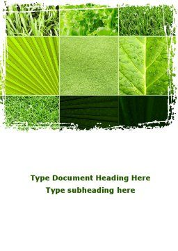 Agronomy And Agriculture Word Template Cover Page