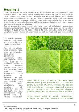 Agronomy And Agriculture Word Template, First Inner Page, 09148, Nature & Environment — PoweredTemplate.com