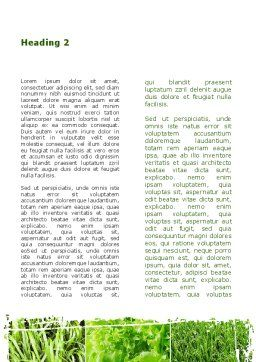 Agronomy And Agriculture Word Template Second Inner Page