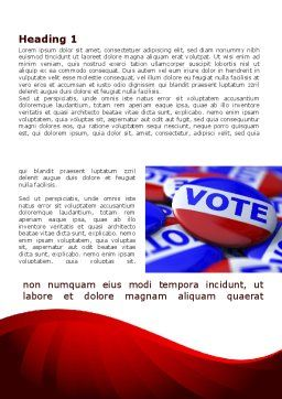 Vote Badges Word Template, First Inner Page, 09149, Holiday/Special Occasion — PoweredTemplate.com