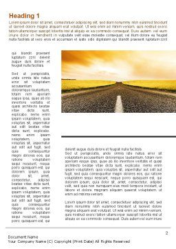 Road Into the Sunset Word Template, First Inner Page, 09151, Cars/Transportation — PoweredTemplate.com