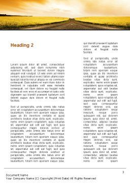 Road Into the Sunset Word Template Second Inner Page