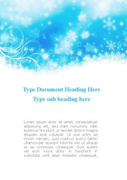 Snowflakes Swirl Word Template, Cover Page, 09152, Holiday/Special Occasion — PoweredTemplate.com