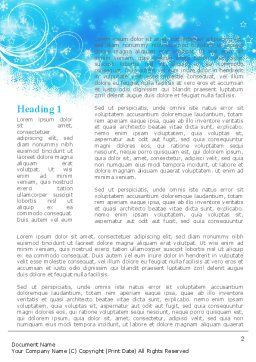 Snowflakes Swirl Word Template, First Inner Page, 09152, Holiday/Special Occasion — PoweredTemplate.com