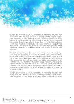 Snowflakes Swirl Word Template, Second Inner Page, 09152, Holiday/Special Occasion — PoweredTemplate.com
