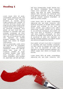 Red Paint Brush Word Template First Inner Page