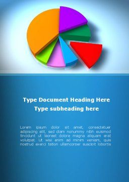 Pie Diagram On The Blue Background Word Template, Cover Page, 09154, Business — PoweredTemplate.com