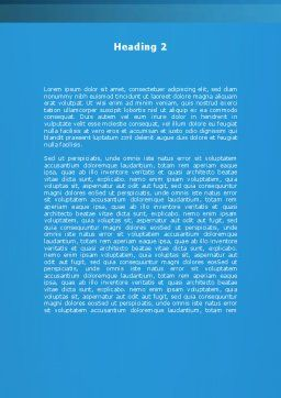 Pie Diagram On The Blue Background Word Template, Second Inner Page, 09154, Business — PoweredTemplate.com