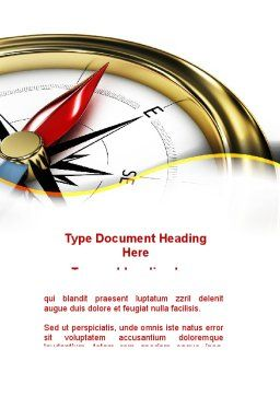 Compass in Business Consulting Word Template, Cover Page, 09155, Holiday/Special Occasion — PoweredTemplate.com
