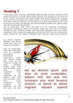 Compass in Business Consulting Word Template, First Inner Page, 09155, Holiday/Special Occasion — PoweredTemplate.com