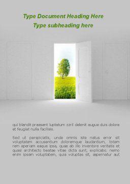 Door is Open Word Template Cover Page