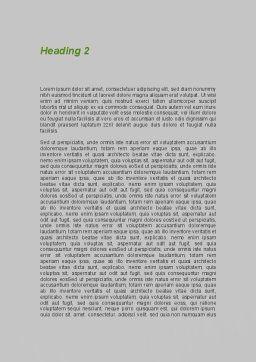 Door is Open Word Template Second Inner Page