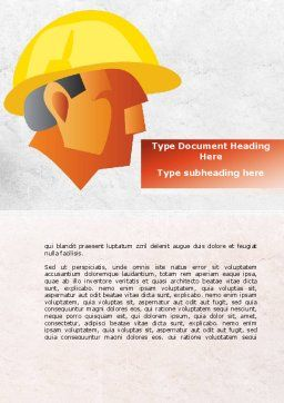 Builder's Portrait Word Template, Cover Page, 09157, Construction — PoweredTemplate.com