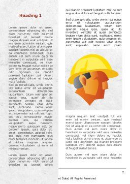 Builder's Portrait Word Template, First Inner Page, 09157, Construction — PoweredTemplate.com