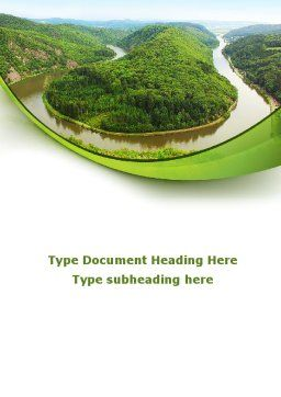 River Valley Word Template, Cover Page, 09162, Nature & Environment — PoweredTemplate.com