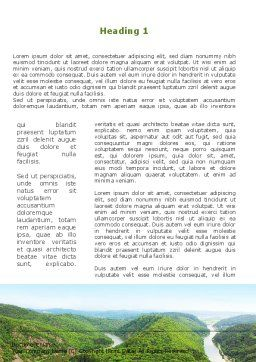 River Valley Word Template, First Inner Page, 09162, Nature & Environment — PoweredTemplate.com