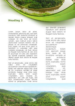 River Valley Word Template, Second Inner Page, 09162, Nature & Environment — PoweredTemplate.com
