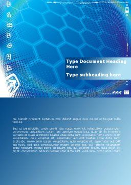 Abstract Blue Cells Word Template, Cover Page, 09166, Technology, Science & Computers — PoweredTemplate.com