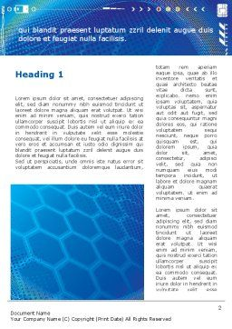 Abstract Blue Cells Word Template, First Inner Page, 09166, Technology, Science & Computers — PoweredTemplate.com