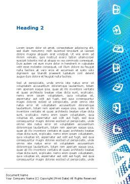 Abstract Blue Cells Word Template, Second Inner Page, 09166, Technology, Science & Computers — PoweredTemplate.com